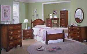Картинка Интерьер Детская комната Дизайн Кровать Лампа