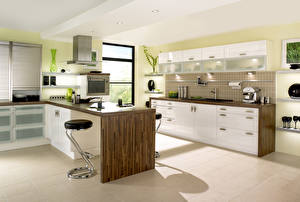 Фото Интерьер Дизайн Кухня Стол 3D Графика