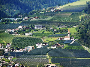 Фотография Италия Здания Поля Schenna Trentino-Alto Adige