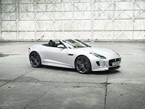 Фотография Ягуар Белый Кабриолет 2016 F-Type British Design Edition