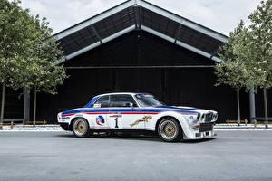 Обои Ягуар Ретро Тюнинг Сбоку Белые 1976-77 XJ12C by Broadspeed авто