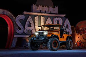 Обои Jeep Оранжевый Металлик 2016 CJ66 Автомобили картинки