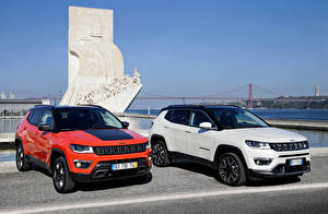 Обои Jeep Двое Металлик 2017 Compass Trailhawk Worldwide