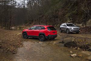 Обои Jeep Двое Металлик 2019 Cherokee Автомобили картинки