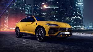 Обои Ламборгини Желтая Urus 2018 Автомобили