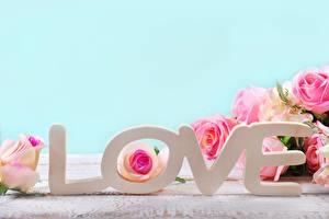Картинка Любовь Слово - Надпись