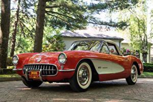 Фотография Винтаж Шевроле Красный Металлик 1957 Corvette Fuel Injection 579B 283-283 HP