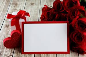 Картинка Розы День всех влюблённых Сердечко Цветы