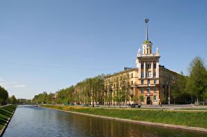 Фото Россия Санкт-Петербург Здания Улица Водный канал