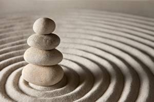 Картинки Камни Круг Песок zen