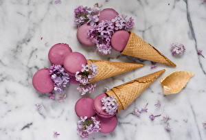 Картинки Сладости Сирень Макарон Розовый