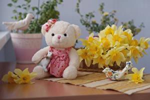 Картинка Плюшевый мишка Нарциссы