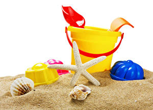 Фотография Игрушки Ракушки Песок