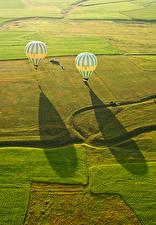 Картинки Турция Поля Воздушный шар Cappadocia Природа
