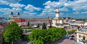 Обои Украина Здания Городская площадь Ivano Frankovsk