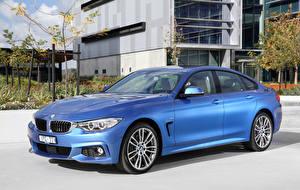 Фотографии BMW Голубая 2016 430i Gran Coupe M Sport Package Автомобили