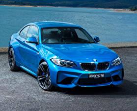 Обои BMW Голубых Металлик 2016 M2 Coupe авто