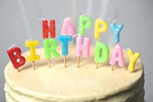 Фотографии День рождения Свечи Инглийские Еда