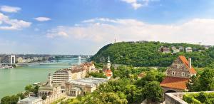Фото Будапешт Венгрия Реки Gellért Hill