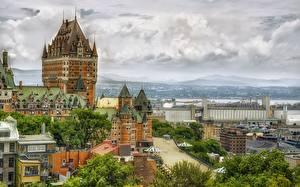 Обои Канада Дома Chateau Frontenac Quebec Города картинки