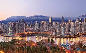 Обои Канада Дома Побережье Ванкувер Города