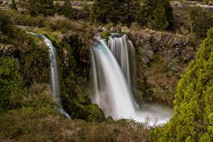 Фотографии Чили Водопады Утес Conguillío