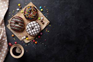 Картинки Кофе Пончики Шоколад Чашка