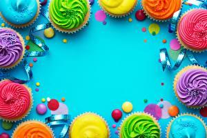 Картинки Капкейк кекс Шаблон поздравительной открытки Пища