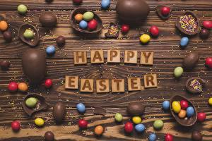 Картинка Пасха Шоколад Яйца Английский Еда