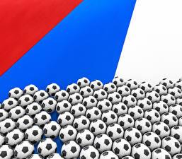 Фото Футбол Россия Мяч Флаг Спорт