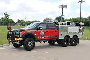 Картинки Форд Пожарный автомобиль 2017 Skeeter Ford F-550 Platinum Edition 6×6 Firewalker Авто