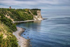 Фотографии Германия Побережье Залива Скале Cape Arkona Природа