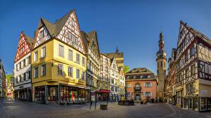Картинки Германия Кохем Дома Улица Городская площадь