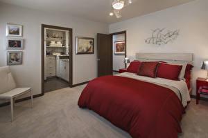 Обои Интерьер Дизайн Спальня Кровать