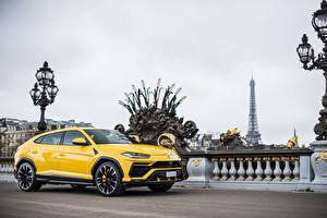 Фотографии Lamborghini Желтый Металлик 2018 Urus Машины