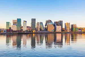 Фотография Норвегия Здания Речка Oslo Города