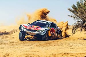 Картинка Пежо Ралли Песок 3008 DKR Dakar Автомобили