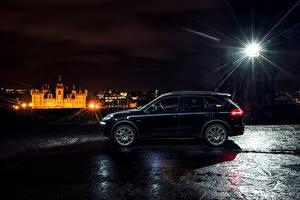 Фото Porsche Черные Сбоку 2014 Cayenne S Diesel авто