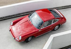 Картинка Porsche Старинные Красный Сверху 1964-67 911 2.0 Coupe Автомобили