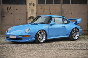 Фотографии Порше Винтаж Голубой Металлик 1995-97 911 GT2 Авто