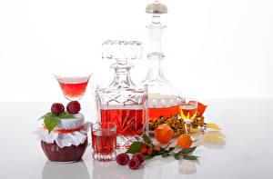 Фото Повидло Малина Алкогольные напитки Банка Рюмка Пища