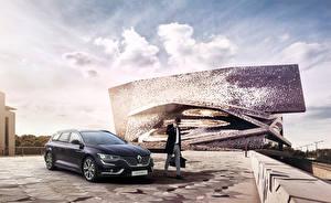 Фотографии Рено Серый 2015 Talisman Estate Initiale Paris Авто