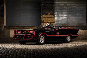 Обои Ретро Кабриолет Черный 1966 Batmobile Автомобили картинки