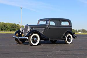Фотографии Ретро Ford Металлик 1934 V8 Deluxe Tudor Sedan машины