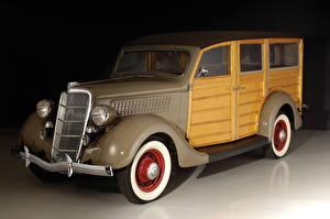 Картинка Старинные Форд 1935 V8 Deluxe Station Wagon Машины
