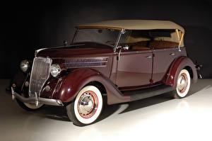 Фотография Винтаж Ford Бордовая Металлик 1936 V8 Deluxe Phaeton Автомобили