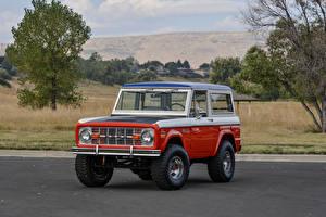 Фотография Винтаж Форд Красный Металлик 1971 Bronco Stroppe Baja Edition