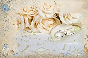 Фотографии Розы Кольцо Двое Цветы