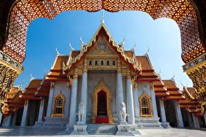 Картинки Таиланд Бангкок Храмы Скульптуры Дизайн Города
