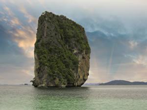 Картинки Таиланд Тропики Утес Природа